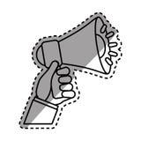 Bullhorn announce device. Icon  illustration graphic design Stock Photos