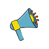 Bullhorn announce device. Icon  illustration graphic design Royalty Free Stock Photos