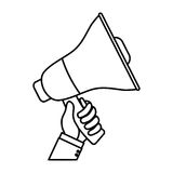 Bullhorn announce device. Icon  illustration graphic design Royalty Free Stock Images