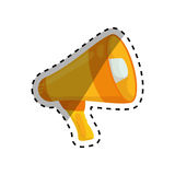 Bullhorn announce device. Icon  illustration graphic design Stock Images