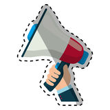 Bullhorn announce device. Icon  illustration graphic design Royalty Free Stock Image