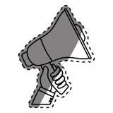 Bullhorn announce device. Icon  illustration graphic design Stock Image