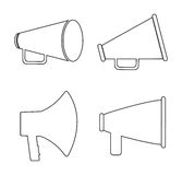 Bullhorn announce graphic Royalty Free Stock Photo