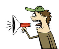 Bullhorn Announcement Royalty Free Stock Photos