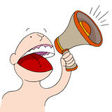 Bullhorn Announcer Royalty Free Stock Photos