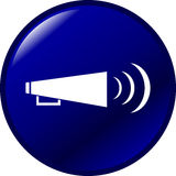 Bullhorn vector button Royalty Free Stock Photos