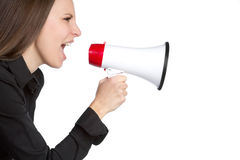 Bullhorn Woman Royalty Free Stock Photos