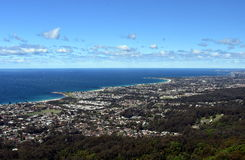 Bulli Beach and coastal view from Bulli Lookout. Sydney, Australia Royalty Free Stock Photography