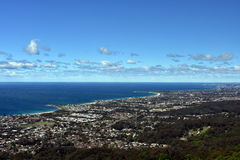 Bulli strand och kust- sikt från Bulli utkik Royaltyfria Foton
