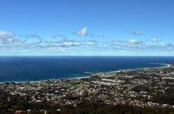 Bulli strand och kust- sikt från Bulli utkik Arkivfoton