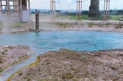 Bullicame Termiczna wiosna blisko Viterbo Włochy Obrazy Royalty Free