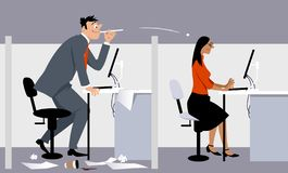 Bulling на рабочем месте бесплатная иллюстрация