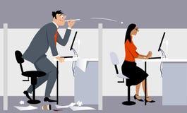 Bulling no local de trabalho ilustração royalty free