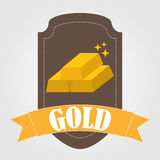 Bullion gold Stock Photography