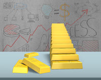 Bullion stacking in stairs shape Stock Photos