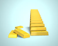 Bullion in stairs shape Stock Image