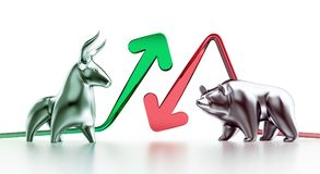 Bullish And Bearish Markets stock illustration
