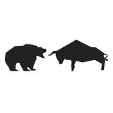 Bullish and bearish symbols. Stock market trends Royalty Free Stock Images