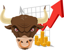 Bullish bull stock illustration