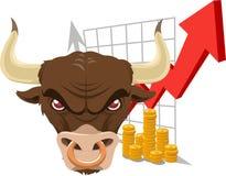 Bullish bull Royalty Free Stock Image