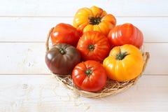 Bullish heart tomatoes. Assortment of Ripe Bullish heart tomatoes Stock Photos