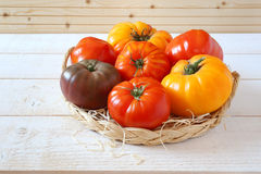 Bullish heart tomatoes. Assortment of Ripe Bullish heart tomatoes Stock Image