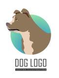 Bullmastiff Dog Logo on White Background Royalty Free Stock Images