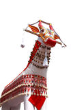 Bullock effigy. Colorful bullock effigy from an Indian temple festival  procession Stock Image