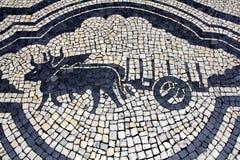 Bullocks και κάρρο κυβόλινθων Στοκ Φωτογραφία