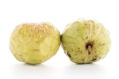 Bullocks or Bulls Heart. Custard apple, also known as Bullocks or Bulls Heart on white background Stock Image