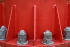 Bullone d'acciaio e dadi Fotografia Stock