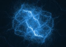 Bullone di fulmine blu del plasma royalty illustrazione gratis