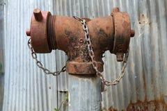 Bulloni a catena dello zinco d'acciaio della ruggine diy Fotografia Stock