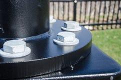 Bulloni di palo della lampada Fotografia Stock Libera da Diritti