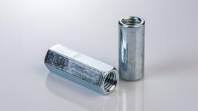 Bulloni e viti del metallo Immagini Stock