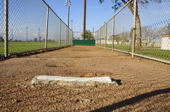 Bullpen. A pitching bullpen at a baseball field in Norco,CA Stock Image