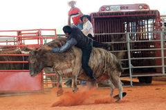 Bullriding at the rodeo Stock Photos