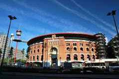 Bullring Arenas. Barcelona, Spain Stock Photos
