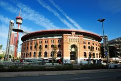 Bullring Arenas. Barcelona, Spain Royalty Free Stock Images