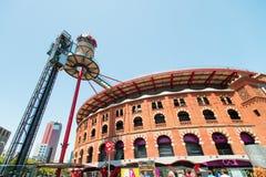 Bullring in Barcelona Spain stock image