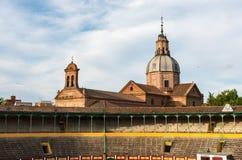 Bullring and Basilica Nuestra Señora del Prado, Talavera Royalty Free Stock Photography