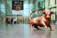 Bullring, Birmingham, United Kingdom. The bronze bull at the entrance to the Bullring, shopping centre, Birmingham, United Kingdom. The Bull Ring is a major Royalty Free Stock Photos