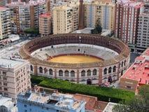 Bullring between buildings in Malaga, Spain, Andalusia Royalty Free Stock Photography