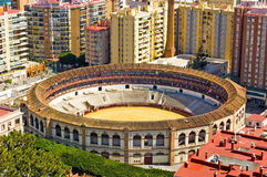 Bullring in the centre of Malaga Royalty Free Stock Images