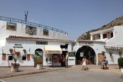 Bullring dans le pueblo de Mijas, Espagne Image libre de droits
