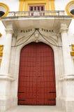 Bullring de Séville - trappe d'entrée principale Image stock