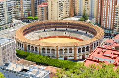 Bullring fight arena in Málaga, Spain. Royalty Free Stock Images