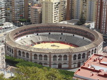 Bullring of Malaga, Spain Royalty Free Stock Images
