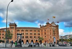 Bullring Plaza de Toros de Las Ventas di Madrid fotografia stock libera da diritti