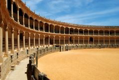 Bullring, Ronda. Spains oldest bullring built in 1785, Ronda, Malaga Province, Andalucia, Spain, Western Europe Royalty Free Stock Photography
